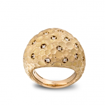 Medium rounded ring rose gold and diamonds - MRU-R4N-AN5074F