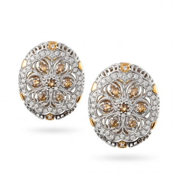 Earrings in rose gold, white gold and diamonds - MGI-R4N-OR5052F