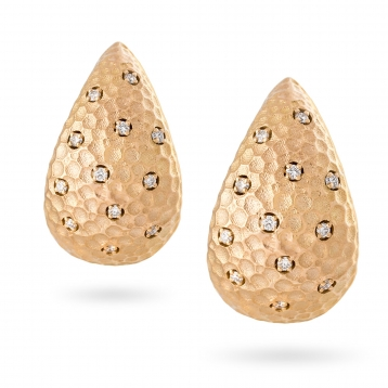 Earrings rose gold and diamonds - MRU-R4N-OR5074F