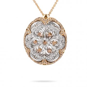 Collana con pendente in oro rosa, oro bianco e diamanti MGI-R4N-CO5052F