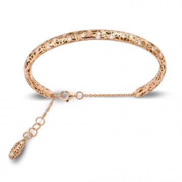 Bracelet small handcuff rose gold and diamonds