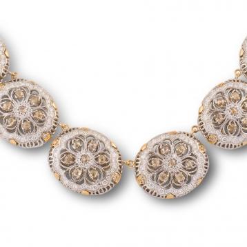 Collier Oro Rosa e Oro Bianco con Diamanti