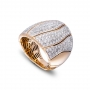 Ring in rose gold and diamonds full pavè