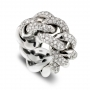 Ring in White gold with diamonds