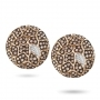 Plateau earrings in rose gold and brown diamonds