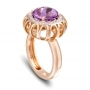 RING Maxi ROSE GOLD, AMETHYST AND BROWN DIAMONDS