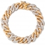 Bracelet in Rose gold with diamonds