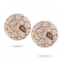 Plateau earrings in rose gold and diamonds