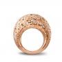 Medium rounded ring rose gold diamonds