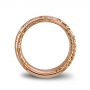 Wide band ring rose gold and diamonds