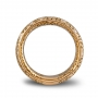Wide band ring yellow gold and diamonds