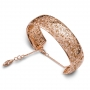 Bracelet large handcuff rose gold and diamonds