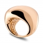 Shaped ring in burnished rose gold