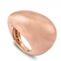 Shaped ring in rose gold satin