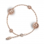 BRACELET FOUR GLOBES rose gold and diamonds