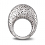 LARGE ROUNDED RING white gold and diamonds pavè