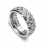 Band ring white gold and diamonds