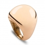 Rounded ring in rose burnished gold