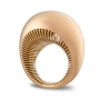 Rounded ring in rose gold satin