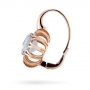 EARRINGS Maxi ROSE GOLD, BLUE TOPAZ AND BROWN DIAMONDS