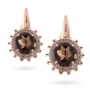 EARRINGS Maxi ROSE GOLD, SMOKY QUARTZ AND BROWN DIAMONDS