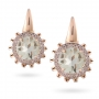 EARRINGS Maxi ROSE GOLD, PRASIOLITE AND BROWN DIAMONDS